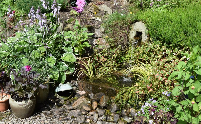 Water feature for a small garden